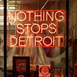 Nothing Stop Detroit Neon Sign